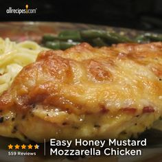 """Easy Honey Mustard Mozzarella Chicken 