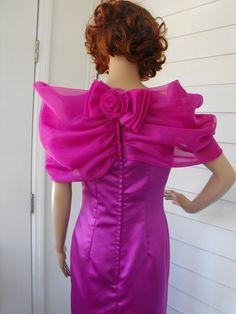 Vintage Formal Gown Dress Formal Magenta S by soulrust on Etsy, $59.99