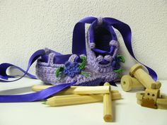 Crochet Bailarina Bebé por Bicolino en Etsy, $18.00