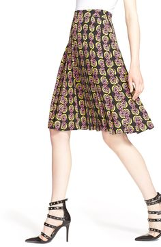 The cheeky monkey print of this classic, hand-pleated skirt flaunts the fresh, quirky attitude of designer, Ashley Williams.