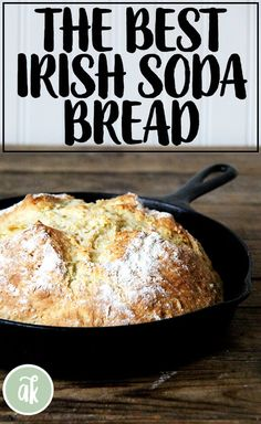 Feb 2020 - This Irish soda bread takes about 5 minutes to mix-up and will be ready to be slathered with butter or marmalade about an hour later. Super Simple, Scones, Irish Bread, Irish Recipes, Irish Soda Bread Recipes, Best Soda Bread Recipe, Buttermilk Recipes, Bread Machine Recipes, Bread Flour Recipes