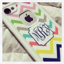 Monogramed DECAL (not a case) for LifeProof® iPhone 5 by Lipstick Shades - many patterns to choose from! - $38.00 WhimsicalLiving.net