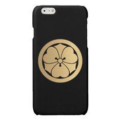Sakai Mon Japanese samurai clan brushed gold Glossy iPhone 6 Case