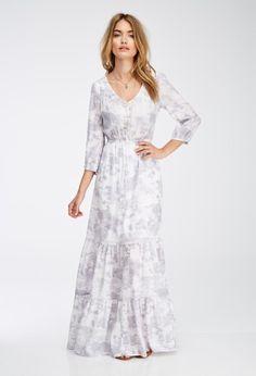 Floral maxi dresses for short women