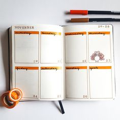 November Bullet Journal Walkthrough | Utilizing Stamps