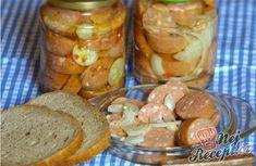 Utopenți - cel mai bun pe care-l cunosc NejRecept. Czech Recipes, Food 52, Pretzel Bites, Sausage, Bread, Cheese, Vegetables, Canning, Baking