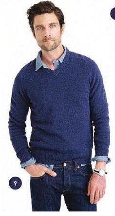 Lambswool V-neck Sweater - J. Crew $69.50