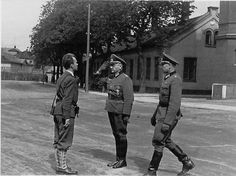 Akershus Castle, Oslo Norway May 11 1945. German commanders handing over control to the Norwegian Resistance.