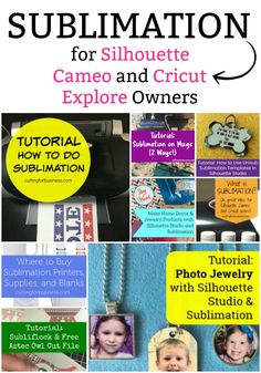 Sublimation Round Up for Silhouette Cameo and Cricut Explore Maker Crafters - by cuttingforbusiness.com