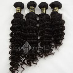 Unprocessed 4pcs/lot Mix Length Natural Black (#1B) Virgin Brazilian Remy Hair Bundles Deep Curly 400g Item Code :bravirweave-29 Hair Material : 100% Brazilian Hair Grade : AAAA (Virgin Remy) Quantity : 4pcs/lot (400g) Weight :400g  Hair Life : More than 1 year  Application : The weft has no clip on it. Recommended for sewing in, cornrowing in or weaving in  Feature : Best quality, silky soft & tangle free hair