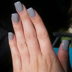 gray nexgen nails w/ just a hint of spark