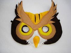 Children's OWL Felt Mask. $12.50, via Etsy.