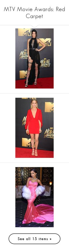 """""""MTV Movie Awards: Red Carpet"""" by polyvore-editorial ❤ liked on Polyvore featuring RedCarpet and MTVMovieAwards"""