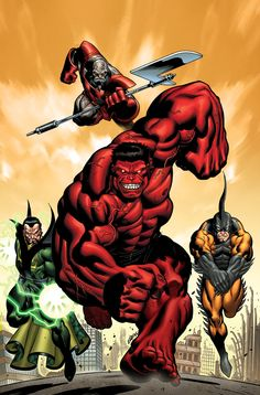 """#Red #Hulk #Fan #Art. (Hulk. """"Trapped In a World They Never Made"""" Vol.2 #11 Variant Cover) By: Ed Mcguiness & Dexter Vines. ÅWESOMENESS!!!™ ÅÅÅ+(THOSE Å SLEEP, READ ABOVE!!!)"""