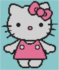 (10) Name: 'Embroidery : Hello Kitty 2 Cross Stitch Pattern