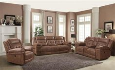 Charleston Traditional Polyester Living Room Set