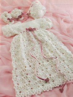 Crochet Christening Dress Set