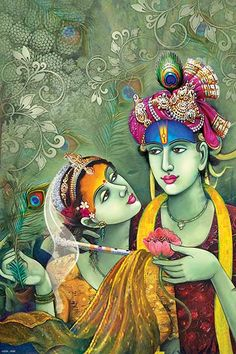 Ads Art Poster Wall decorative and Personalise Greeting cards Shri Hanuman, Cute Krishna, Radha Krishna Love, Radhe Krishna, Ganesha Pictures, Radha Krishna Pictures, Indian Art Paintings, Fantasy Paintings, Hare Rama Hare Krishna