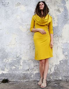 Stretchy Super Cowl Short Dress locally milled by gaiaconceptions, $135.00