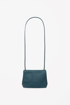 Small leather bag, petroleum. COS