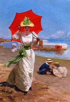 The Red Umbrella: Fabio Cipolla (1854-1935)