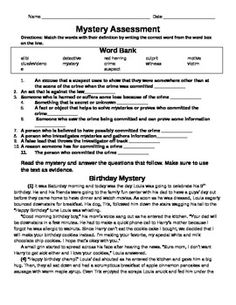 mystery assessment birthday mystery