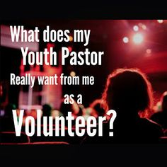 Youth Ministry volunteers