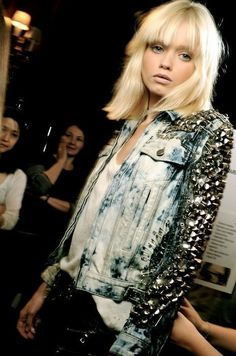 I want to go blonde and I want that jacket. Mmm