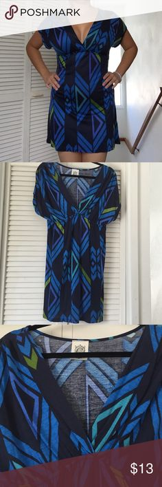 Cute blue dress Cute and sexy dress worn just once in great condition. No pilling. Super soft and comfy Dresses