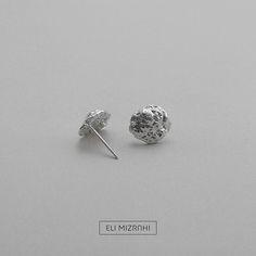 Round Mars Earrings silver 925 by eli mizrahi jewelry studio