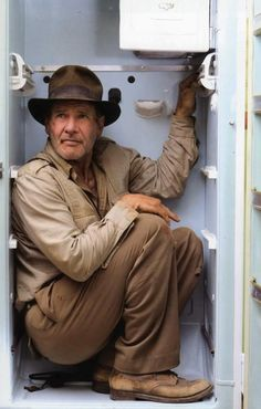 """Harrison Ford as 'Indiana Jones' in """"Indiana Jones and the Temple of the Crystal Skull"""", One of my most favorite scenes of this movie. Henry Jones Jr, Harrison Ford Indiana Jones, Indiana Jones Films, Frankenstein, Movie Stars, I Movie, Film Mythique, Indiana Jones Adventure, Performing Arts"""