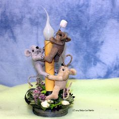 Primitive Candle Light Primitive Mouse by MotherlodeToad on Etsy