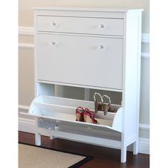 Shoe Cabinet with Storage Drawer   Overstock.com Shopping - Great Deals on Other Storage