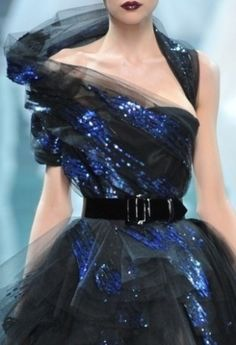 Dior Haute Couture, love the peeks of blue here and there