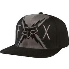Fox Racing Big Boltz Snapback Hat on sale for only… Flat Bill Hats, Flat Hats, Black Snapback, Snapback Cap, Snapback And Tattoos, Fox Racing Clothing, Fox Brand, Flex Fit Hats, Fox Hat