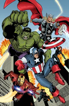 Here is a pic of the Avengers I colored. line art came from colors came from me you can see his line art here: Avengers Colors 2 Marvel Comics Art, Marvel Vs, Marvel Heroes, Marvel Avengers Assemble, The Avengers, Marvel Comic Universe, Marvel Cinematic Universe, Avengers Earth's Mightiest Heroes, Avengers Coloring