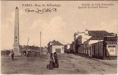Faro : Rua da Alfandega Algarve, Portugal, Nostalgia, Old Postcards, Old Photos, Poster, History, Street, Lighthouse