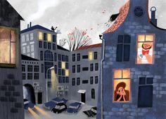 Secret Dog by Olga Demidova, via Behance