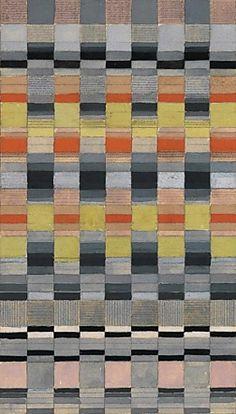 design-is-fine: Benita Koch-Otte, design drawing for a fabric,...