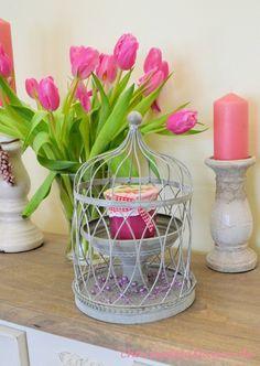 Französische Landhausdekoration ~ Ob für Kerzen, Pflanzen oder andere dekorative Dinge. Dekorationsglocke 'Les Barreaux'