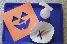 Toddler Jack-O-Lantern Art Project