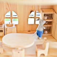 Time of pretend play is very important for development of a child. They start adopting roles of characters they have observed and one way of them doing this is through dollhouse play. Help your child to have fun while learning. Dollhouse Kits, Wooden Dollhouse, Big Beds, Sylvanian Families, Waldorf Toys, Wood Patterns, Miniature Houses, Pretend Play, Case