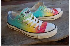 DIY tye dye shoes
