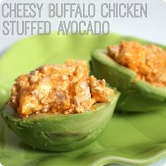 Cheesy Buffalo Chicken Stuffed Avocado
