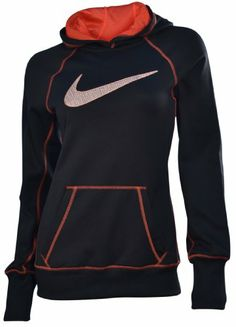 $47.98 awesome Nike Women's Swoosh Out Pull Over Training Hoodie-Black