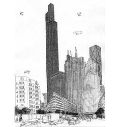 Urville, a fictional city of 12 million people drawn by French autistic savant Gilles Trehin. The project took 20 years.
