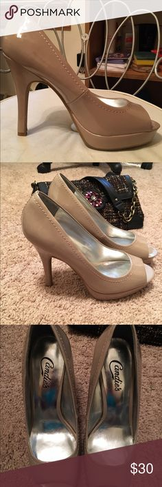 Like new Candie's heels Like new Candie's high heels from Kohl's Yunnis Blush color patent leather size 8 medium very nice😄👡 Candie's Shoes Heels