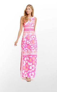Time for a chic throwback! This floor-length maxi dress was inspired by dresses we pulled out of our vintage vault full of dresses Lilly herself designed