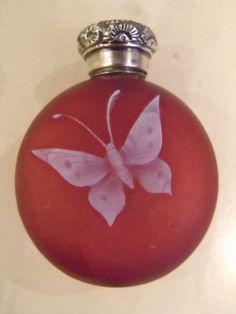 *Silver Thomas Webbs english cameo bottle 1880