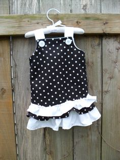 Toddler Polka Dot Ruffle Dress  12/18 months  Ready by SweetBabyP, $20.00
